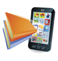 smartphone book concept vector image vector image