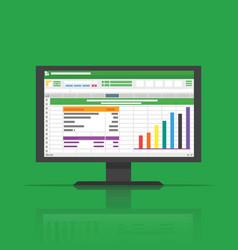 spreadsheet icon computer flat vector image