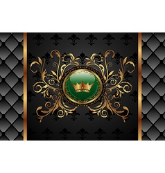vintage background with crown - vector image vector image