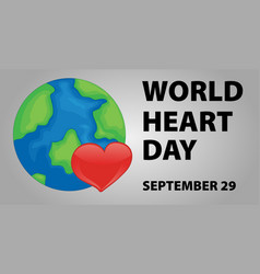 World heart day poster design vector