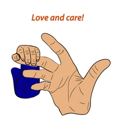Love and care vector