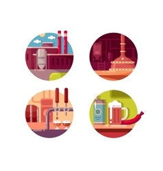 Process of brewing vector image