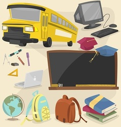 back to school item pack 1 vector image