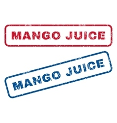 Mango juice rubber stamps vector