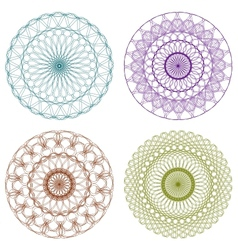 Set of Color Guilloche Rosettes vector image