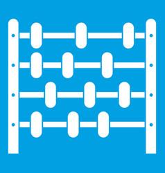 Children abacus icon white vector