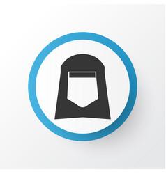 Shawl icon symbol premium quality isolated hijab vector