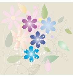 Vintage flower greeting card vector