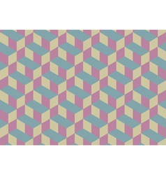 3d Cube Seamless Pattern Background vector image