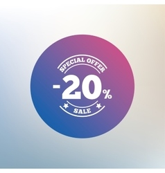 20 percent discount sign icon Sale symbol vector image vector image