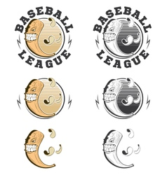 Set of baseball labels and badges vector