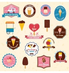 Ice cream emblems set vector