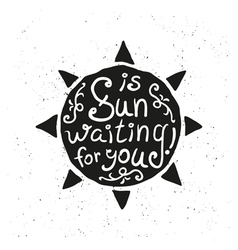 Hand drawn sun vector