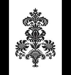 Stylized floral design element damask vector
