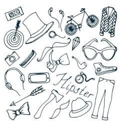 Doodle vektor hipster vector image