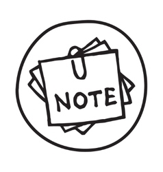 Doodle notepad icon vector