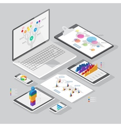 Set of infographics design elements vector