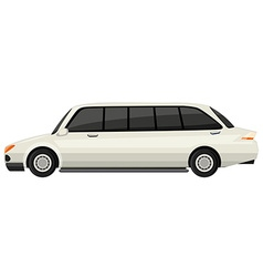 White limousine on white background vector