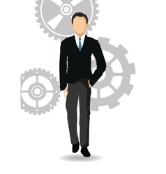 Man avatar icon businesspeople design vector