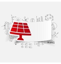 Drawing business formulas solar battery vector