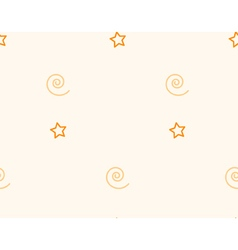 Star and spiral seamless pattern vector