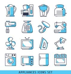 Appliances icons set vector image