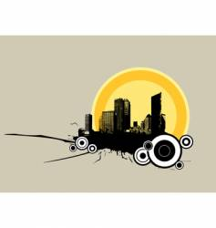city sun vector image vector image