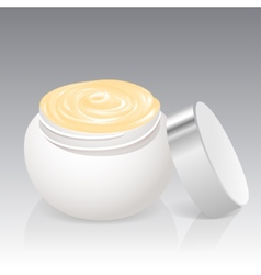 Facial cream jar isolated on a white background vector image vector image