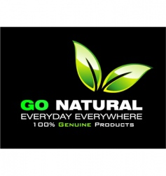 go natural vector image vector image