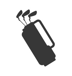 Golf clubs bag equipment isolated icon vector