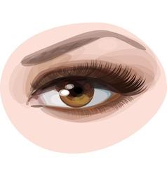 green woman eye vector image
