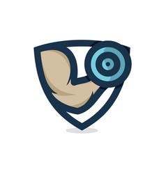 gym shield vector image