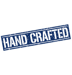 Hand crafted square grunge stamp vector