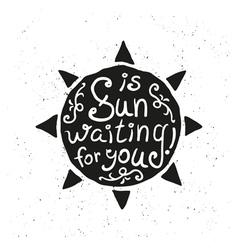 Hand drawn sun vector