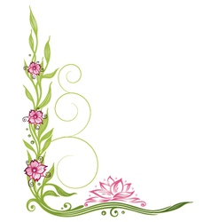 Lotus flower border vector image
