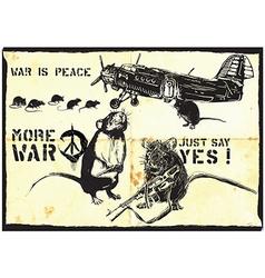 More war rats - hand drawn vector