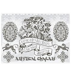 Mystical charm bird vector image vector image