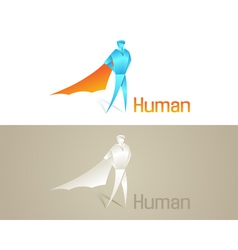Origami Human Social Icon vector image vector image