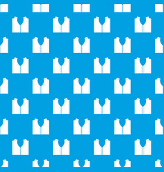 Pattern for sewing pattern seamless blue vector