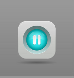Pause button vector image vector image