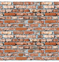 red brick wall background vector image vector image