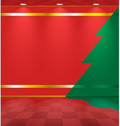 Room with fir on the wall vector image