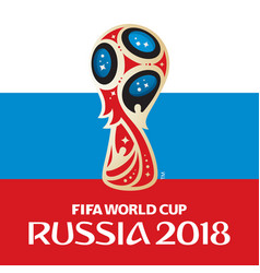 russia world cup 2018 with flag vector image vector image