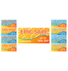 Sale collection banner with inscription set of vector