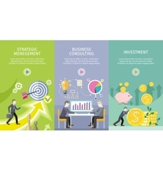 Set of conceptual business web banners vector