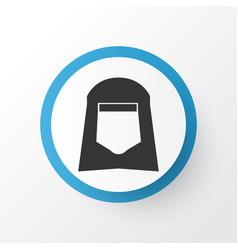 Shawl icon symbol premium quality isolated hijab vector