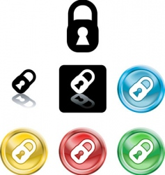 stylised padlocks vector image vector image