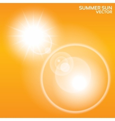 Summer sun lens flare background vector image