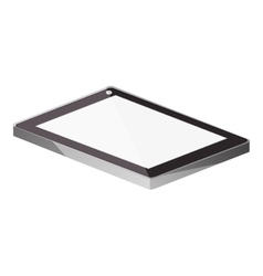 Tech touch tablet camera front lying down vector