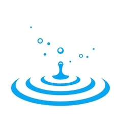 water drop splash vector image